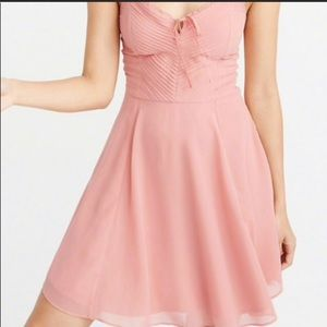 Abercrombie & Fitch Pink Fit & Flare Dress